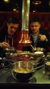 Korean BBQ with Liam and Joe