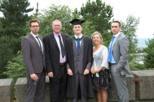 Me and my family at graduation