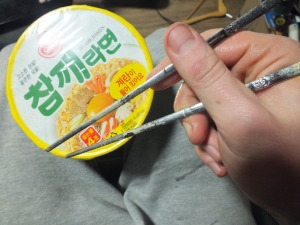 Chopsticks and noodles